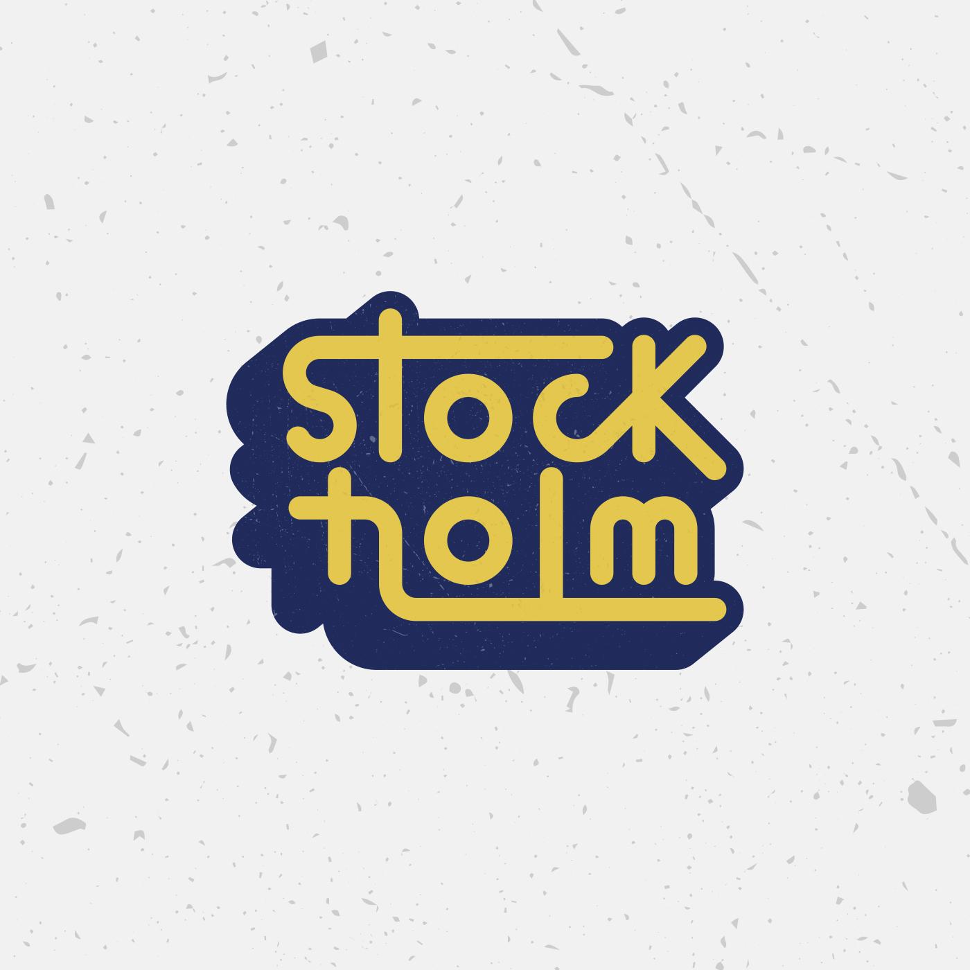 Stockholm Typography