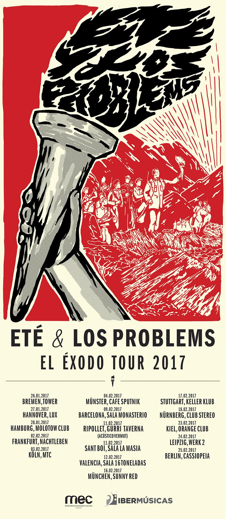 Todas las fechas de El Éxodo Tour 2017