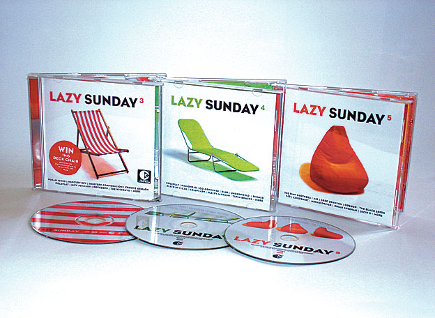 VARIOUS ARTISTS - LAZY SUNDAY Vols. 3, 4 & 5 - COMPILATIONS