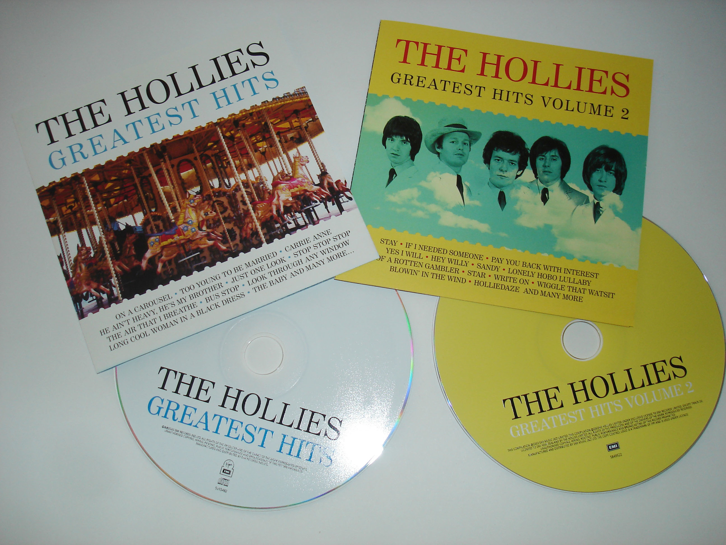 THE HOLLIES - GREATEST HITS VOLS. 1 & 2 - ALBUMS
