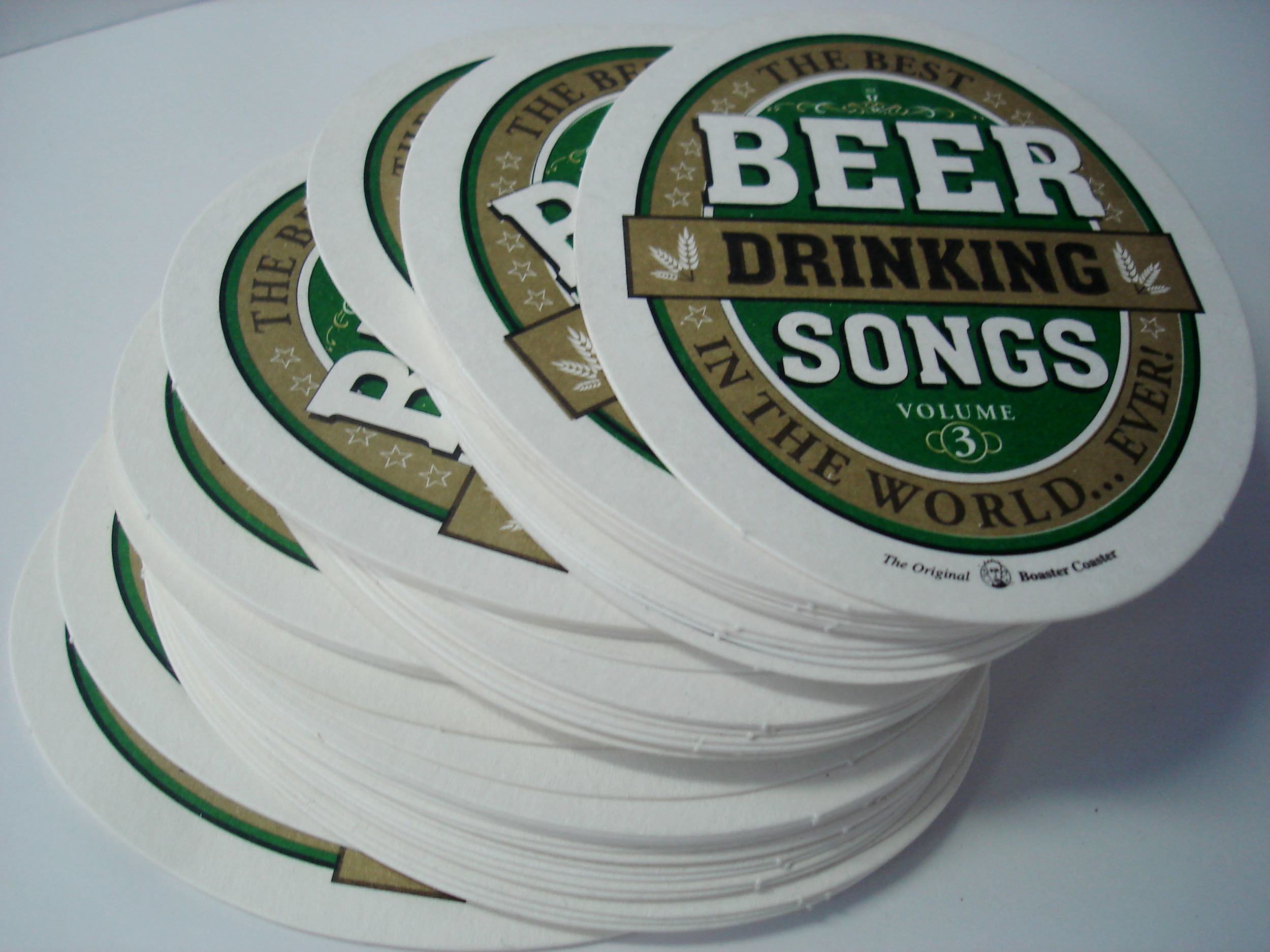 THE BEST BEER DRINKING SONGS IN THE WORLD... EVER! - DRINK COASTERS