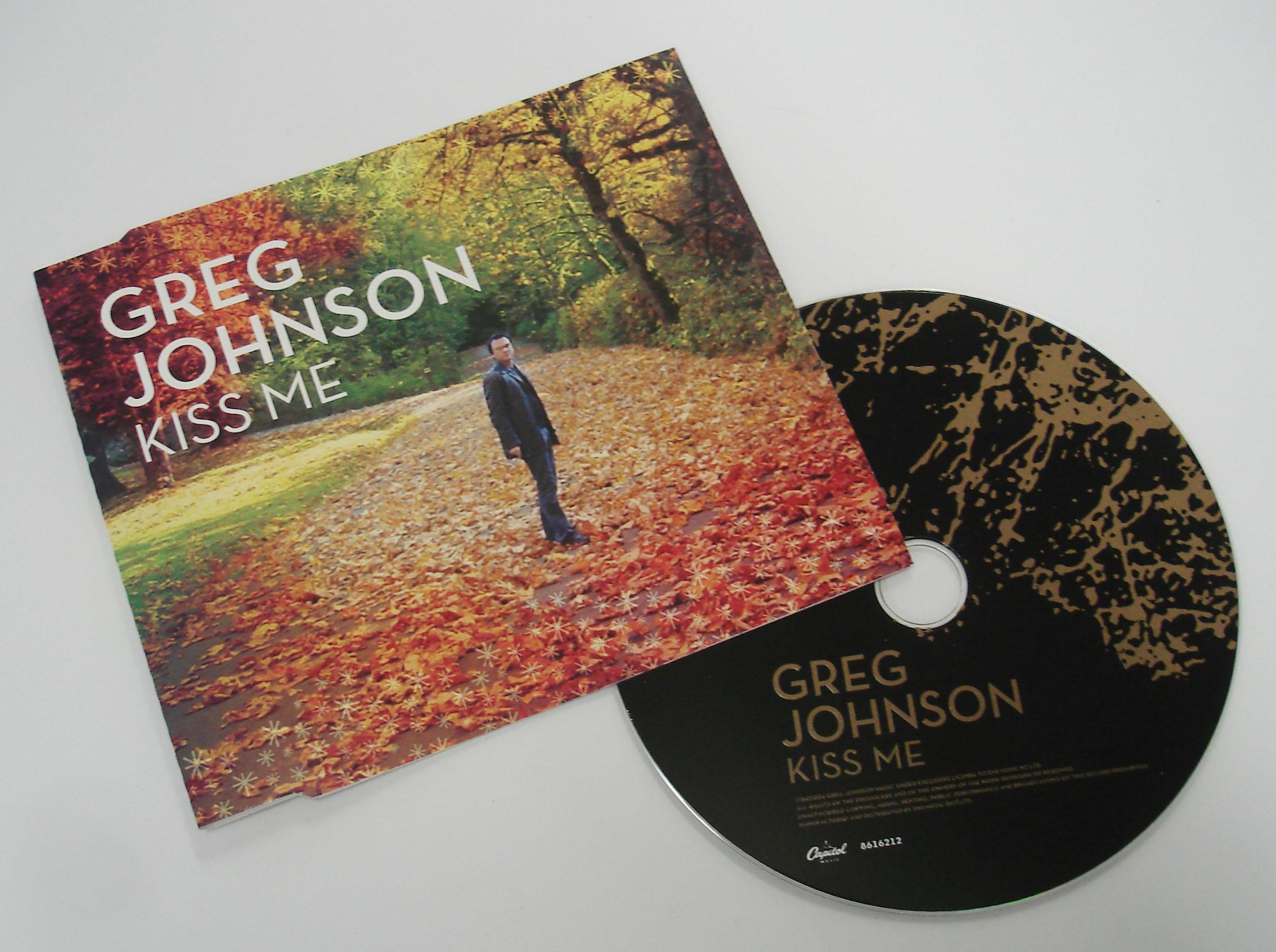 GREG JOHNSON - KISS ME - SINGLE