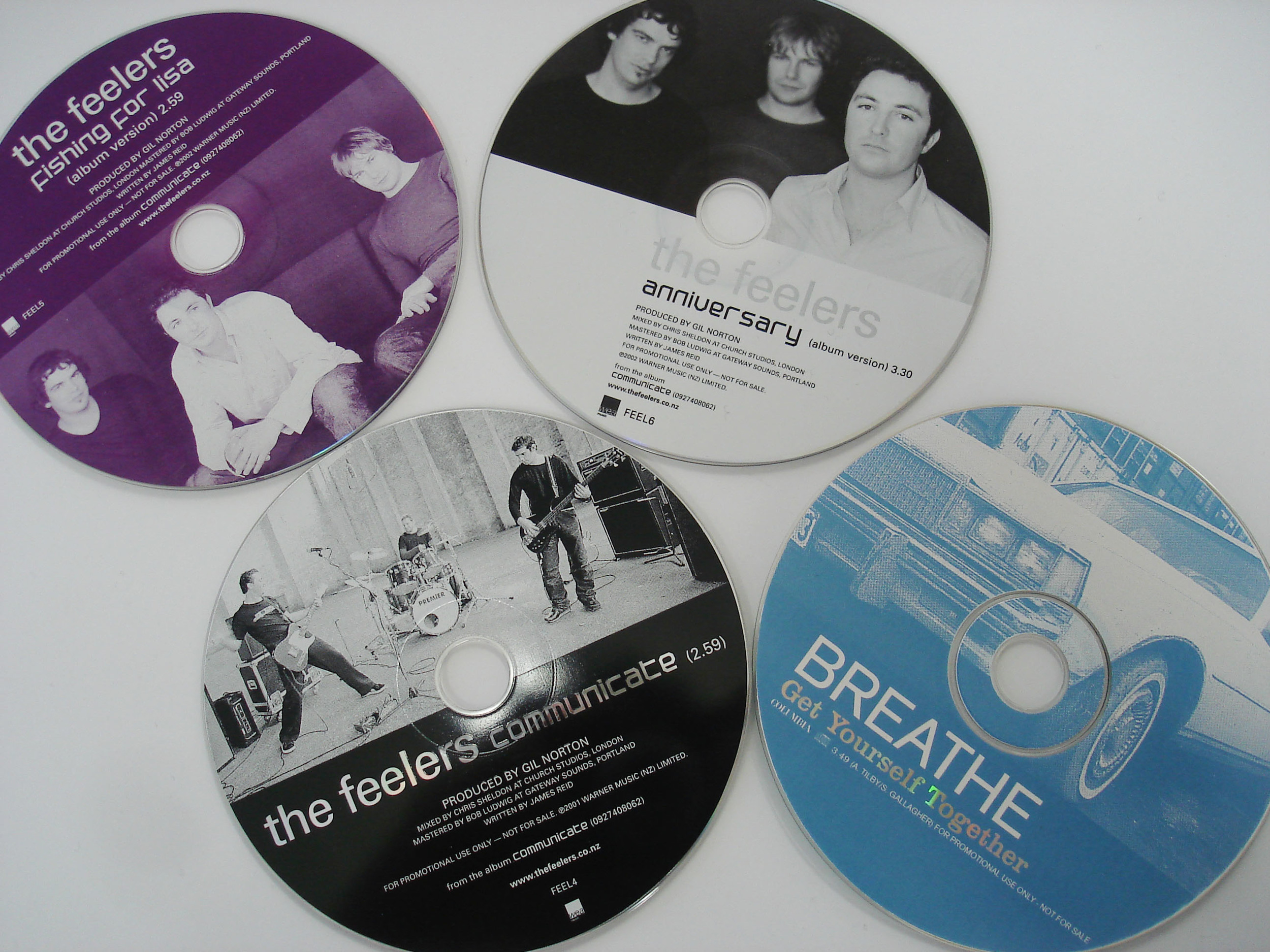 THE FEELERS/BREATHE - PROMO CDs