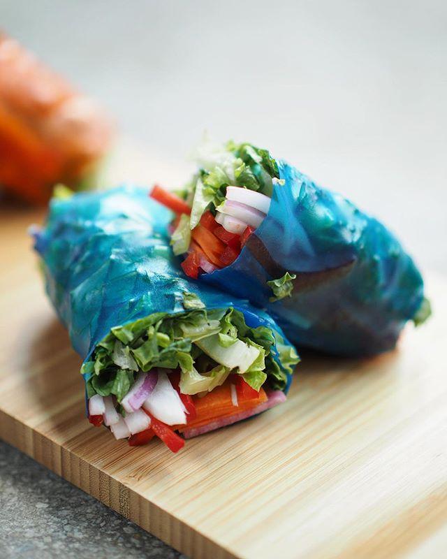 New coming up for summer menu; Whimsical Spring Roll. Served w/ carrot and ginger dressing. 😋🥗🌱 • • • • #tastesbetterhere #eatingfortheinsta #eatfamous #sushigram #sushiart  #f52grams #igerschicago #foodiechats #nomchicago #theartofplating #foodstarz #chefstalk #fabfoodchicago #thekitchen #foodfeast #alwayshungrychi #topchicagorestaurants #thrillist #hertastylife #eattheworld #foodandwine #chicagobucketlist #whatveganseat #healthylifestyle #plantbaseddiet