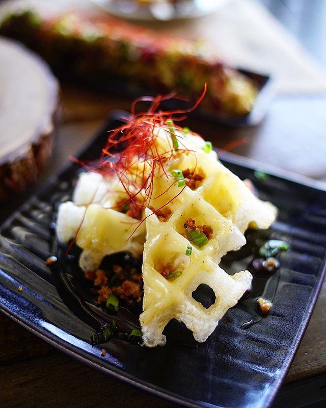 "New Izakaya dish for this Summer......... ""Moffle Truffle"" 🥓🧀 Created by Executive Izakaya Chef Pamela Decker @spam1432 ll Photo by @abunyaphoto • • • • • • #tastesbetterhere #eatingfortheinsta #eatfamous #sushigram #sushiart  #f52grams #igerschicago #foodiechats #nomchicago #theartofplating #foodstarz #chefstalk #fabfoodchicago #thekitchen #foodfeast #alwayshungrychi #topchicagorestaurants #thrillist #hertastylife #eattheworld #foodandwine #chicagobucketlist #dametravelerfoodie #midwestbloggers"