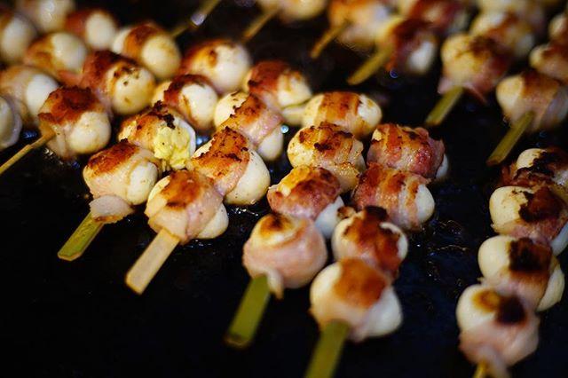 Grilled Quail egg wrapped in bacon. 🐦 🥓 New Robata 🍢🍢 for this #summer. • • • • #tastesbetterhere #eatingfortheinsta #eatfamous #sushigram #sushiart  #f52grams #igerschicago #foodiechats #nomchicago #theartofplating #foodstarz #chefstalk #fabfoodchicago #thekitchen #foodfeast #alwayshungrychi #topchicagorestaurants #thrillist #hertastylife #eattheworld #foodandwine #chicagobucketlist #dametravelerfoodie #midwestbloggers #calledtobecreative  #verilymoment #gatheredstyle #theeverydayproject
