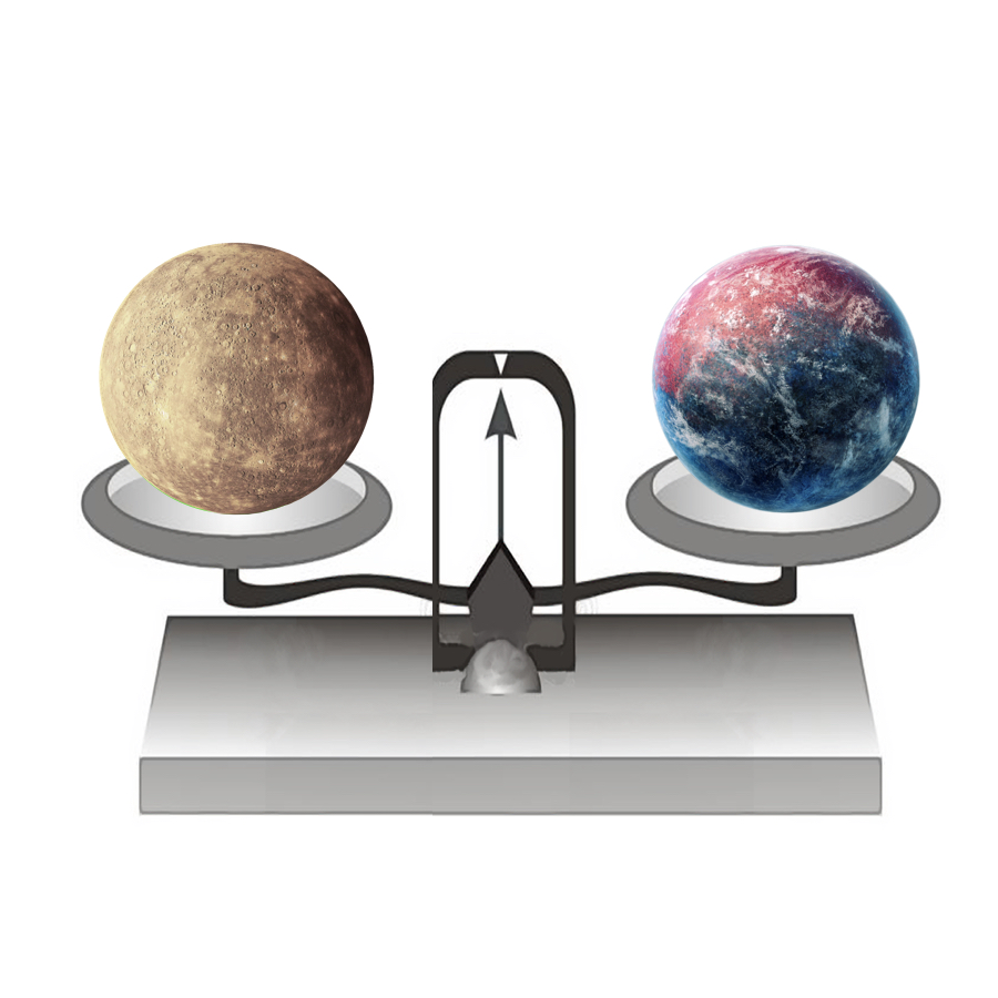 Mass - If we put Mercury on a balance, it would have a mass of 330,104,000,000,000,000,000,000 kilograms.
