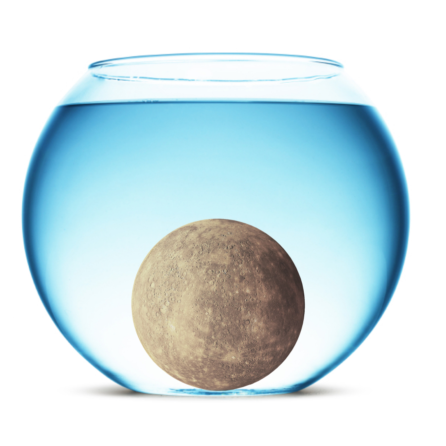 Density - Being a terrestrial planet, Mercury has a relatively high density of 5.42 grams / cubic centimeters. It would definitely sink in water.