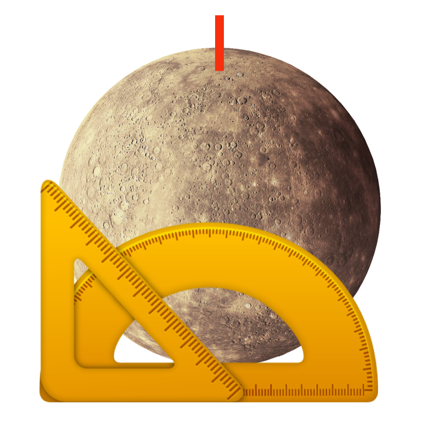 Tilt - Mercury has an axial tilt of 0 degrees. That means it has no tilt at all and experiences no seasonal changes.