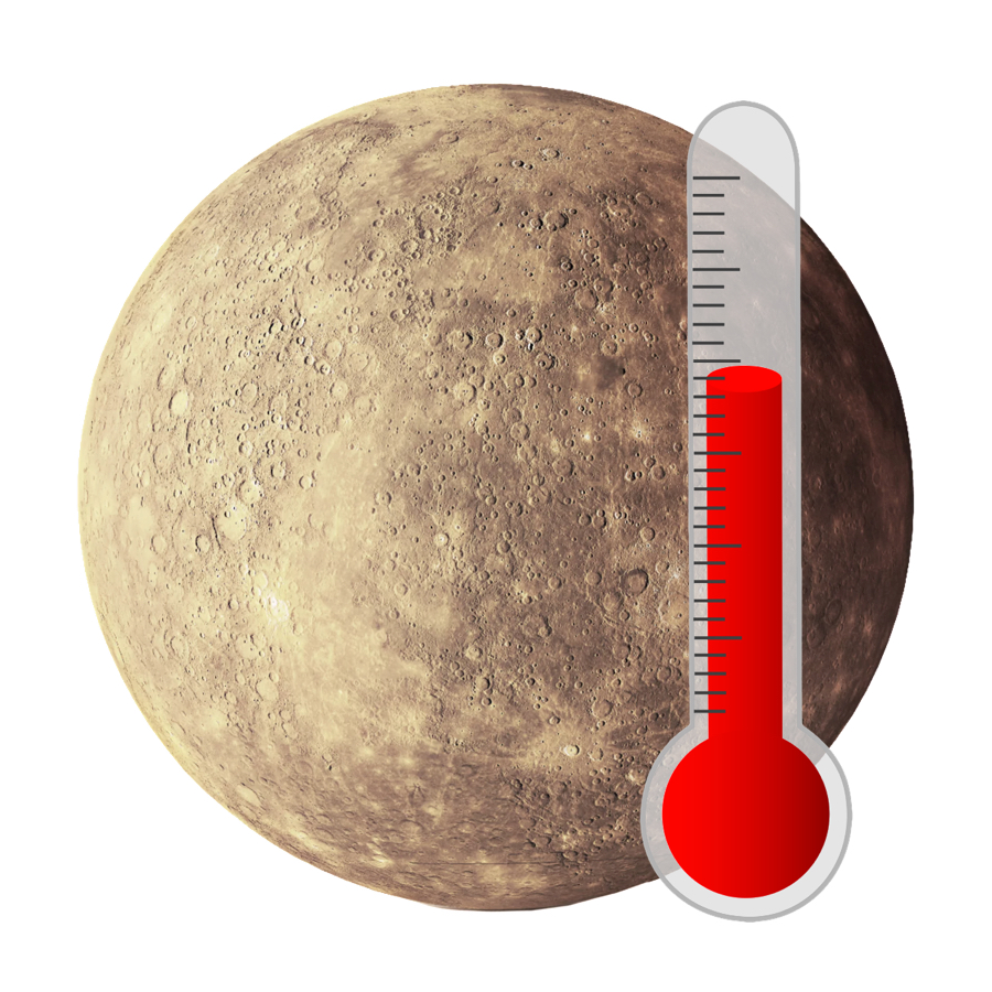 Temperature - Mercury's temperatures change wildly between day and night. It's average temperature is 66.9 degrees Celsius. That's too hot for humans to survive.