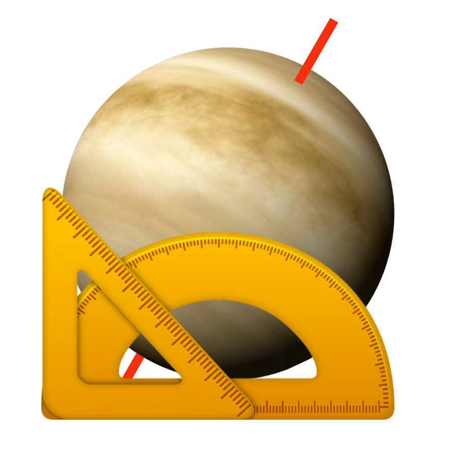 Tilt - Venus has a very slight axial tilt of 3 degrees. That means it experiences hardly any seasonal changes.