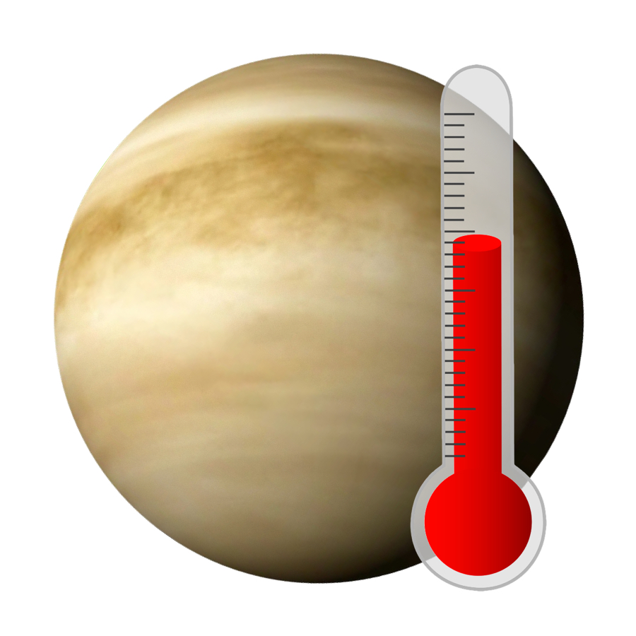 Temperature - Venus is the hottest planet in our solar system. With an average temperature of 462 degrees Celsius, it's nearly five times hotter than boiling water.