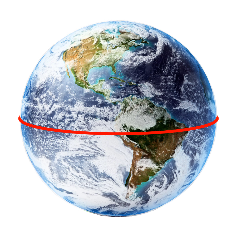 Circumference - Earth has an equatorial circumference of 40,030 kilometers. In a fast car, it would take you about two weeks to drive around it.