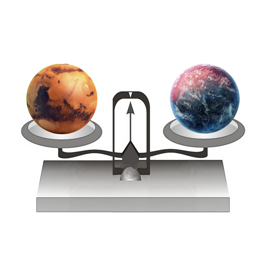 Mass - If we put Mars on a balance, it would have a mass of 641,693,000,000,000,000,000,000 kilograms.