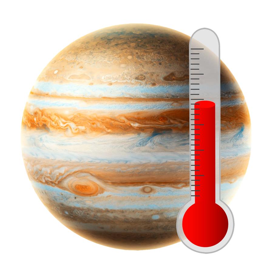 Temperature - Jupiter is cold! The average temperature is -148 degrees Celsius.