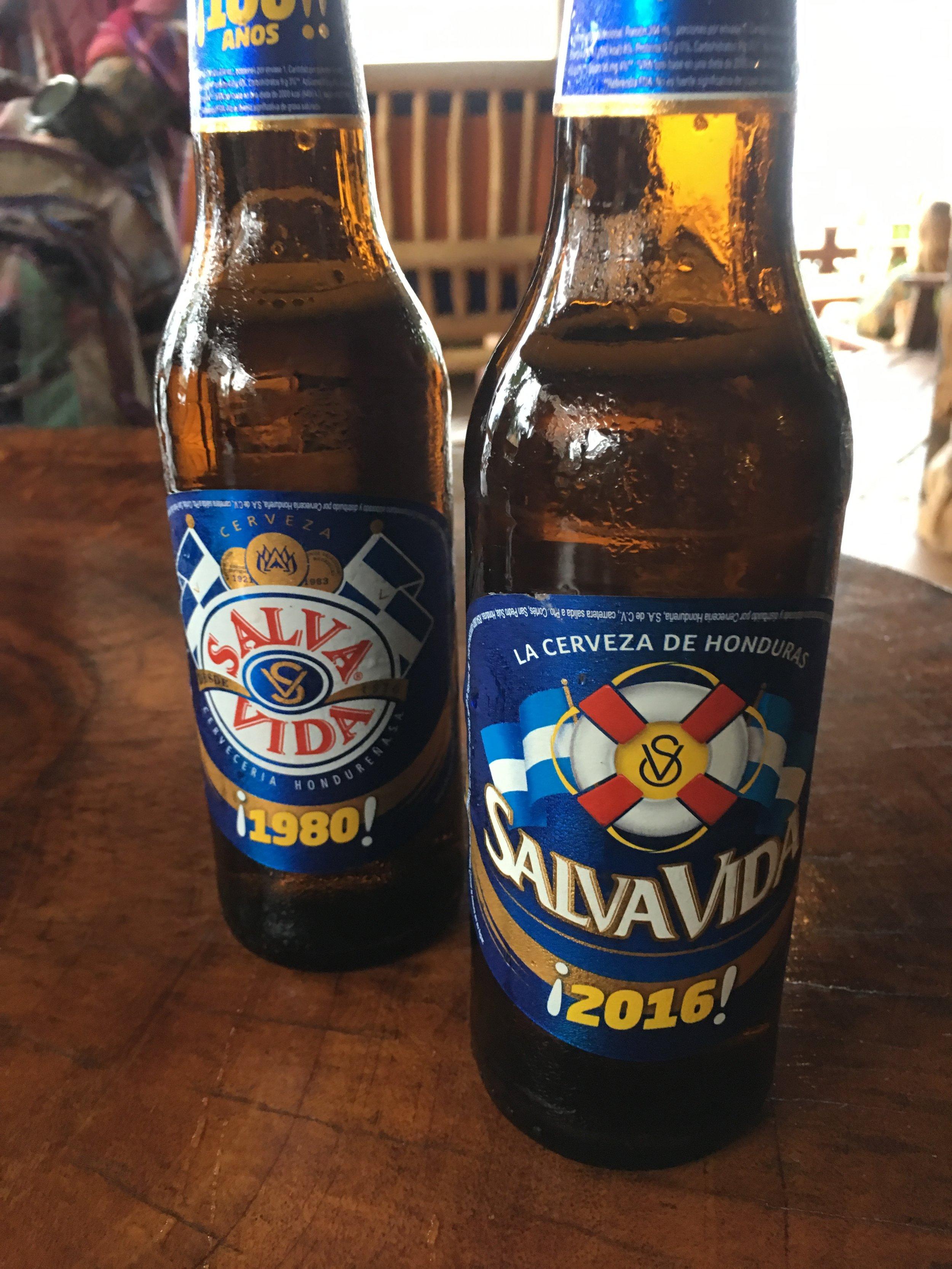 Salva Vida bottles with the anniversary labels