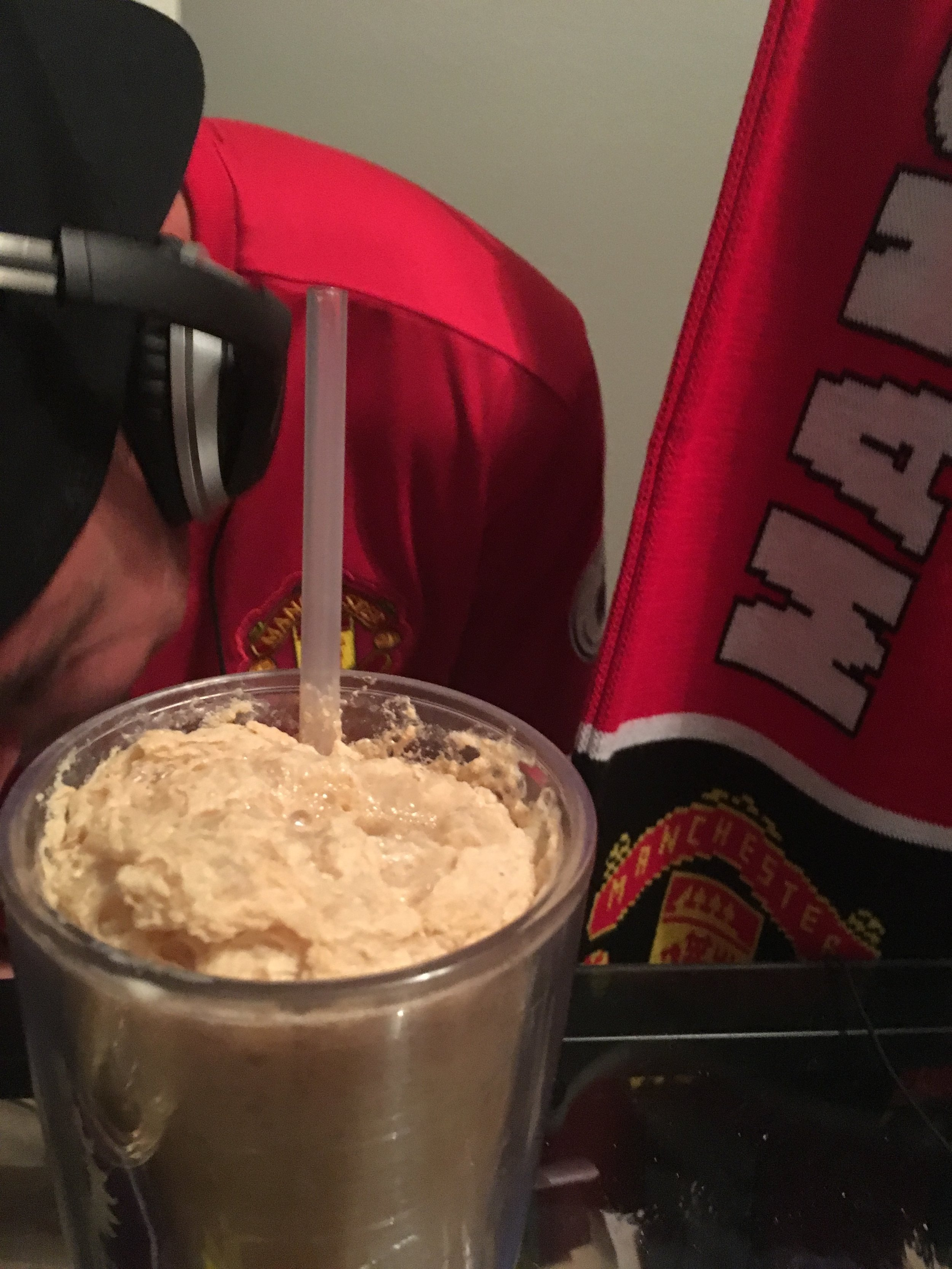 A bizarre beer float went to the person whose team finished the lowest on the table.