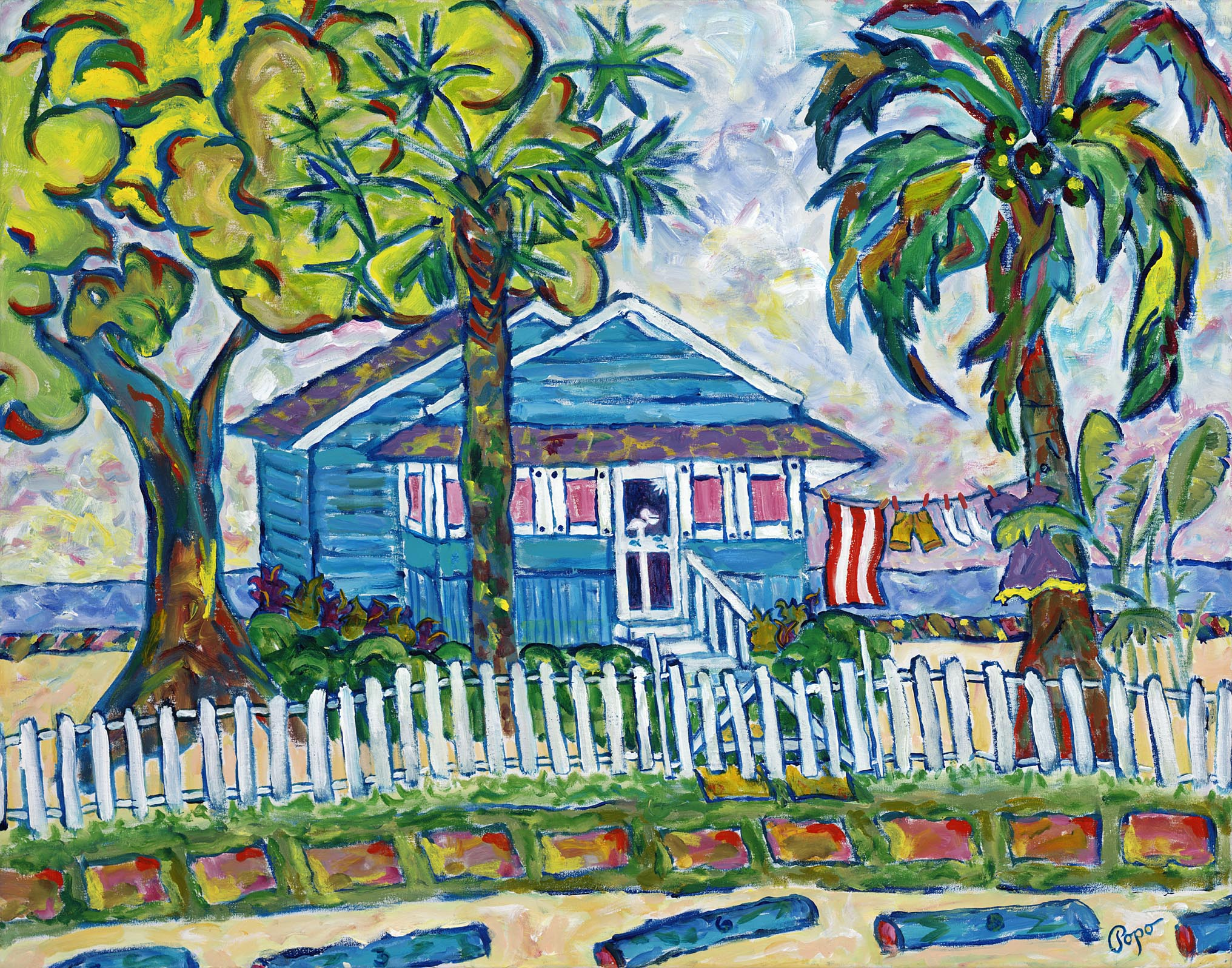 SIESTA KEY BUNGALOW    28X22 ACRYLIC SOLD #057
