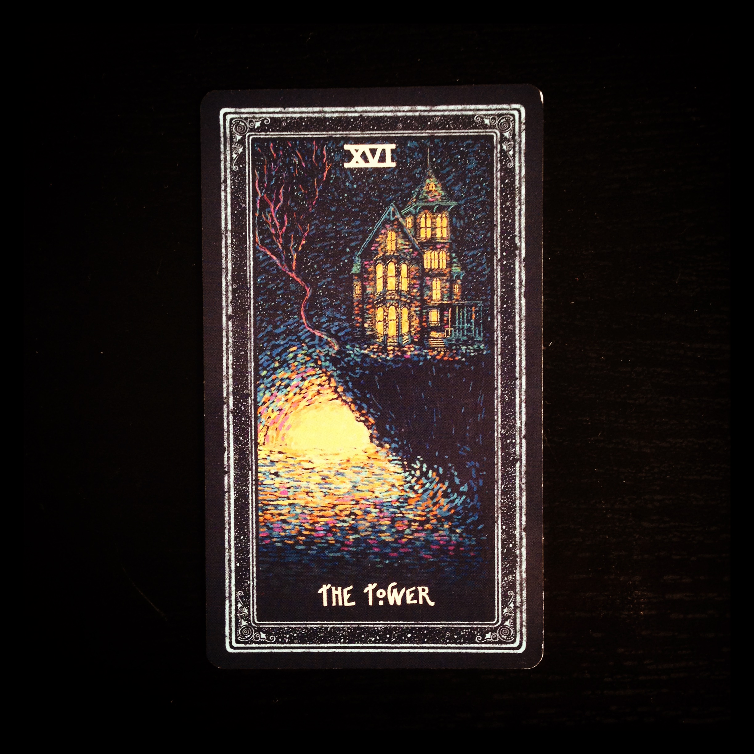 XVI - The Tower, from James R. Eads' Prismavisions Tarot