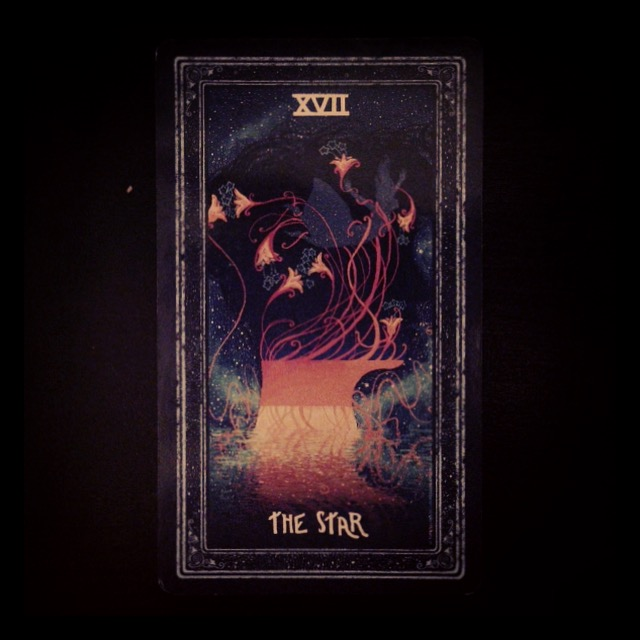 XVII - The Star from James R. Eads' Prismavisions Tarot