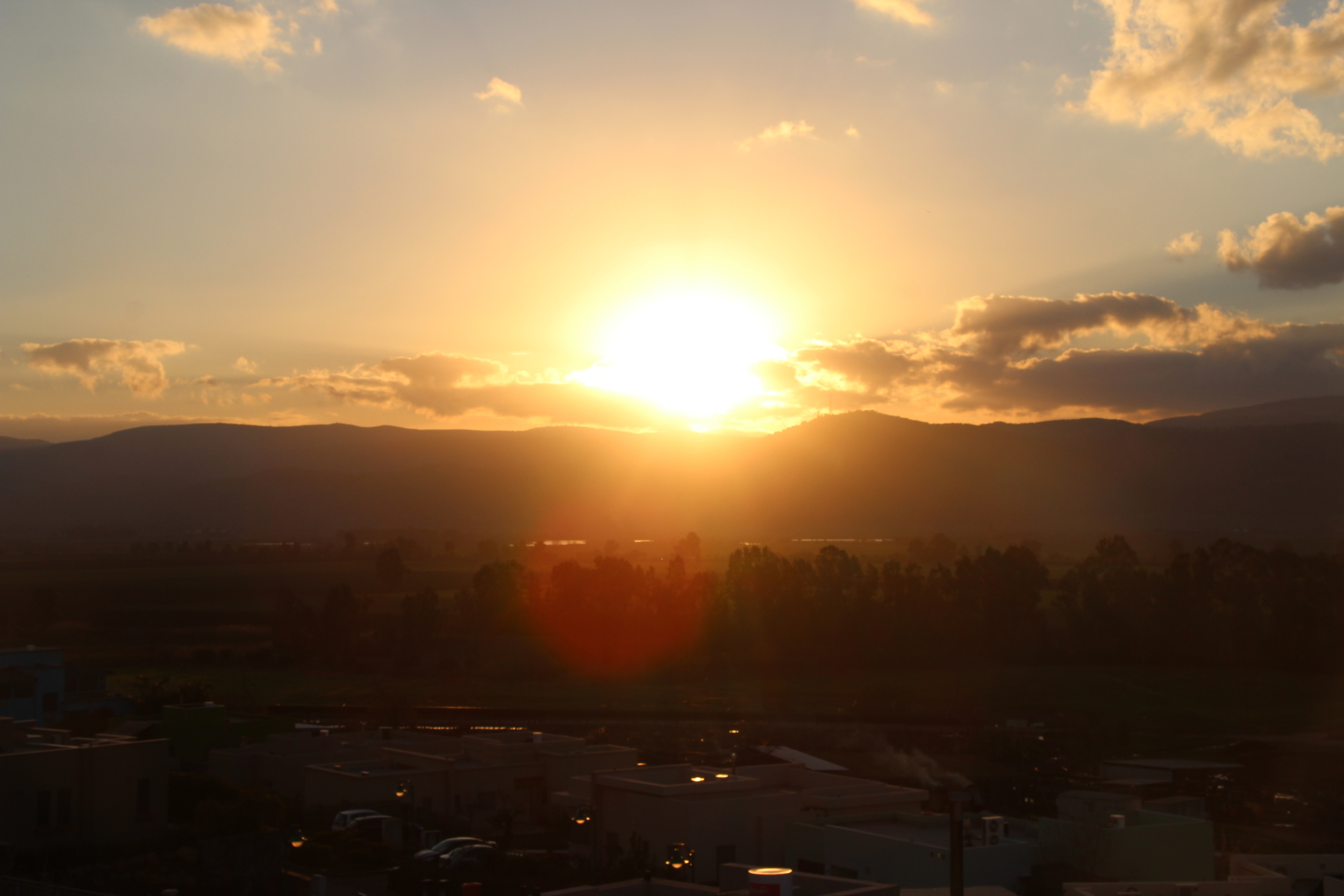 Sunset in the Golan Heights, Israel