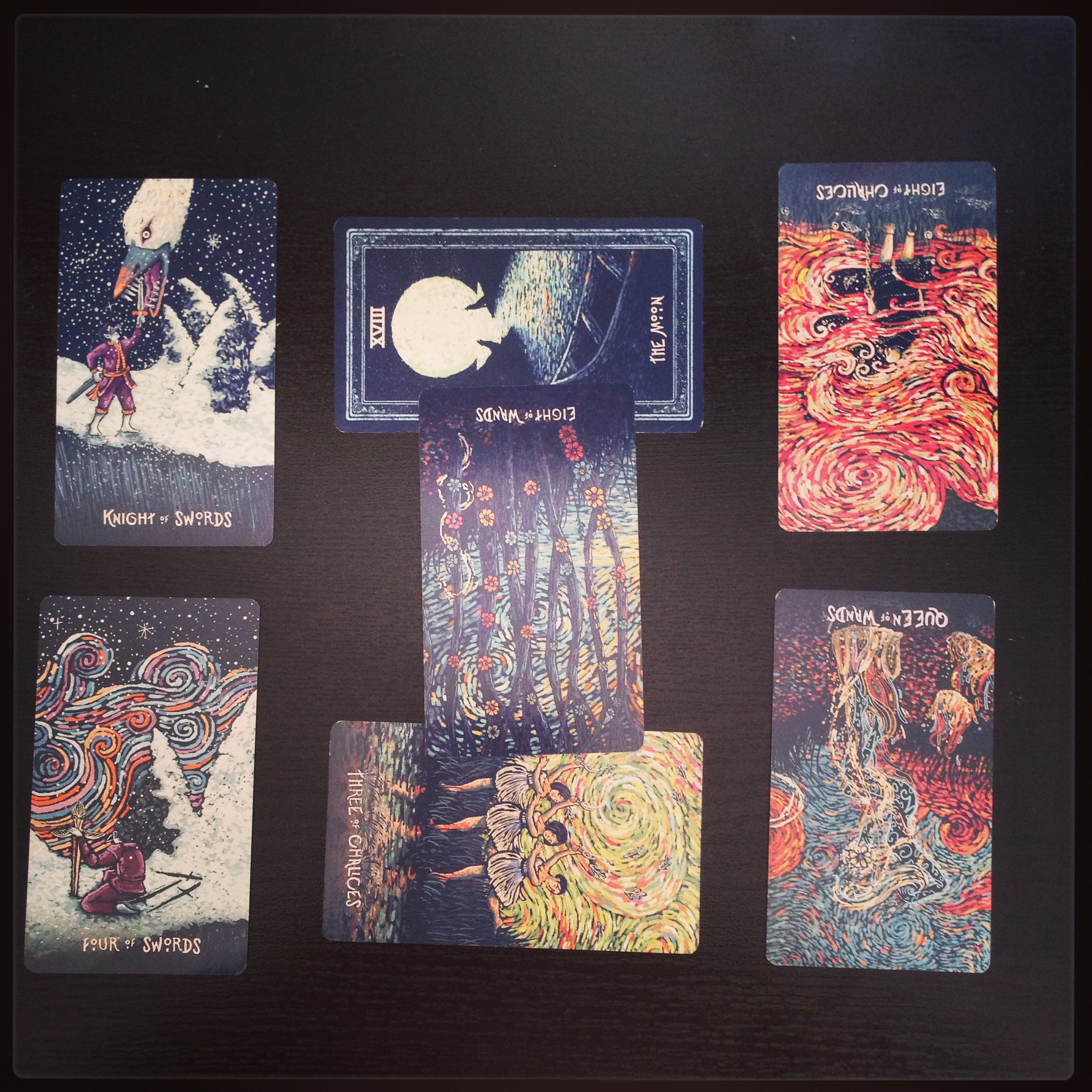 Prisma Visions tarot deck by James R. Eads (click to enlarge image)