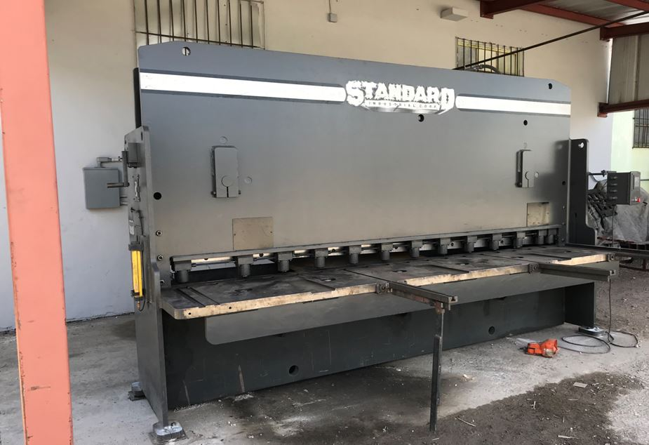 "C & R Metals has a new shear! Now with the ability to process 1/4"" plates, up to 12' wide!"