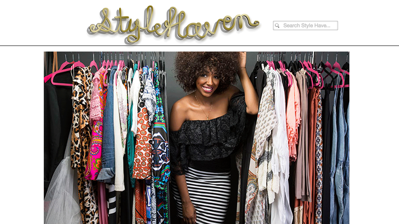 "Style Haven, Inc.  (Montclair, Essex County) Dresses, tops, bottoms, accessories, plus sizes. Scarves, body butter, natural soap, hand poured soy candles, and more. ""We also offer style services such as Alterations, Personal Shopping, Closet Makeovers and Wardrobe Styling."" Shop on line, or a various locations (mobile boutique)."