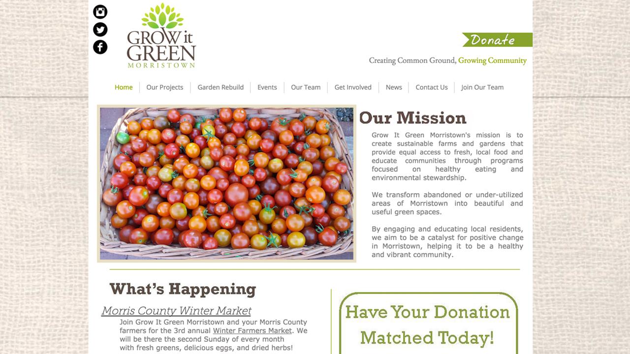 Grow It Green Morristown (Morristown |Morris County) Programs: The Urban Farm | Early St. Community Garden