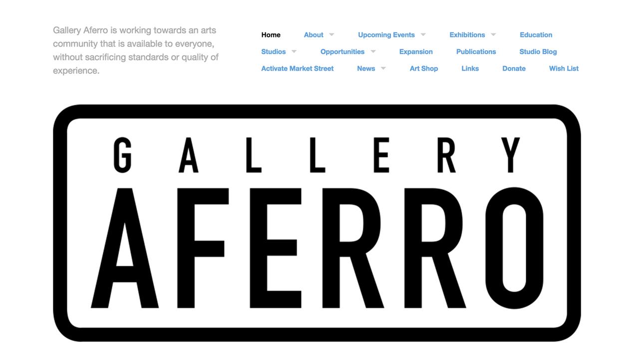 Gallery Aferro (Newark | Essex County) Programs: Activate Market Street | Art Shop | Exhibitions | Residency Program | Group Tours, Demonstrations, Talks | Publication