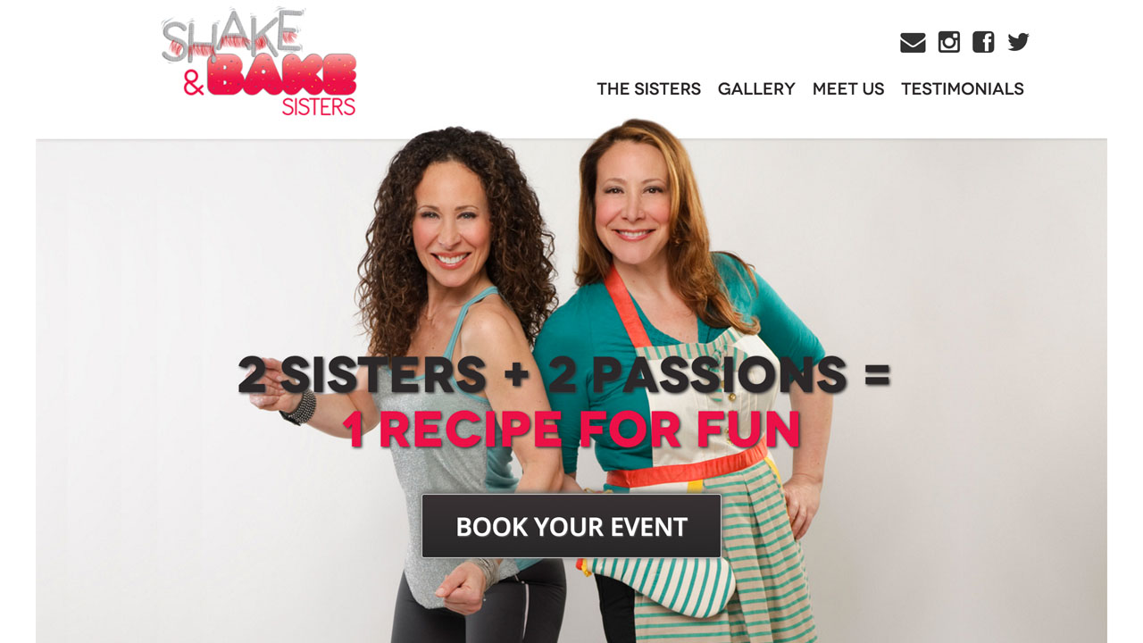 """Shake and Bake Sisters (Hoboken, Hudson County) """"Meet Susan and Dawn, 2 sisters inspired to combine their passions into a fascinating and unique event opportunity. Susan is a licensed Zumba® instructor and Dawn is the founder of Simply Home Goods and Om Sweet Home. Together, they will let you burn the earned by participating in a heart-pumping private Zumba® party, followed by indulging on a personalized dessert"""""""
