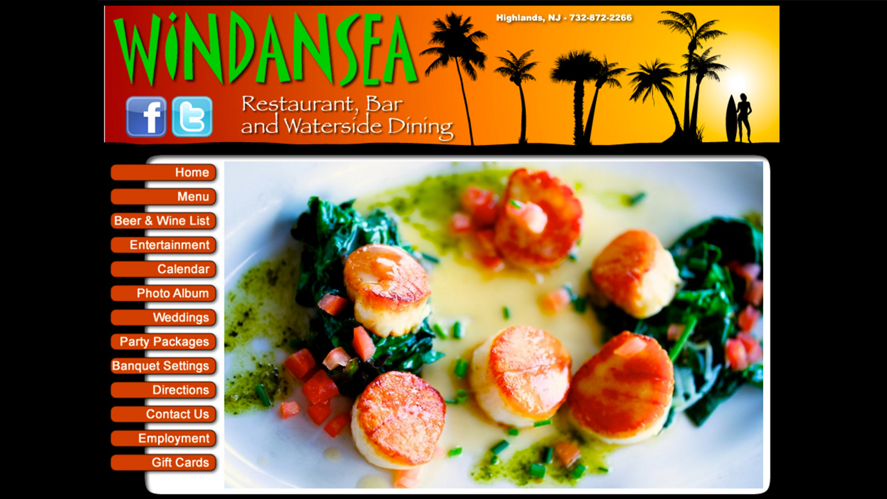Windansea (Highlands, Monmouth County) American-style cuisine. Seafood, meat, and vegetarian dishes. Soups, salads, sandwiches, burgers, sliders, and more. Domestic and imported bear, wine. Located at 56 Shrewsbury Ave.