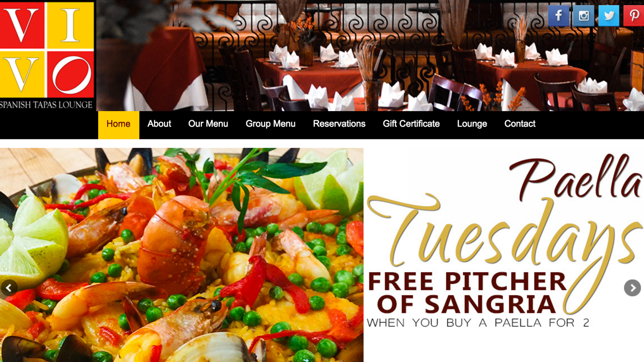 Vivo Lounge (Newark, Essex County) Authentic Spanish Tapas. Soups, salads, paellas, meat and seafood options, Spanish desserts, and more. Vegetarian options. Located at 167 Ferry Street.