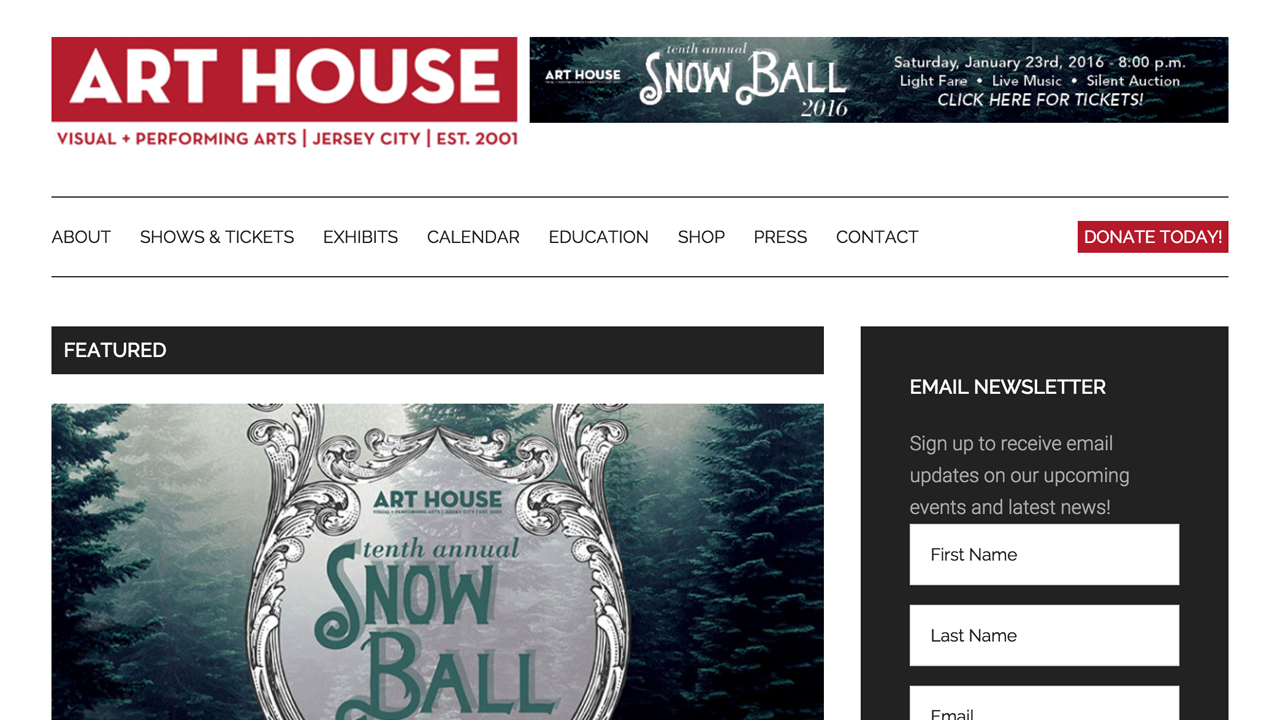 Art House Productions  (Jersey City |Hudson County) Programs: Visual and performing arts events & workshops