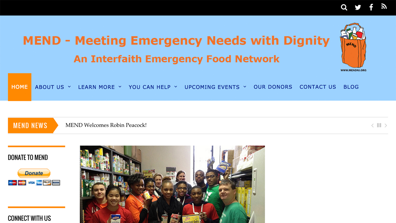 MEND (Meeting Emergency Needs with Dignity) (East Orange |Essex County) Programs: Emergency food assistance &support services