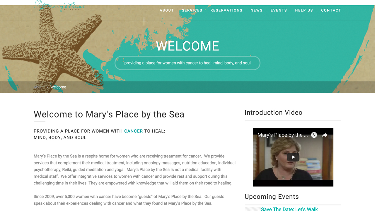 Mary's Place by the Sea (Ocean Grove | Monmouth County) Supporting women with cancer