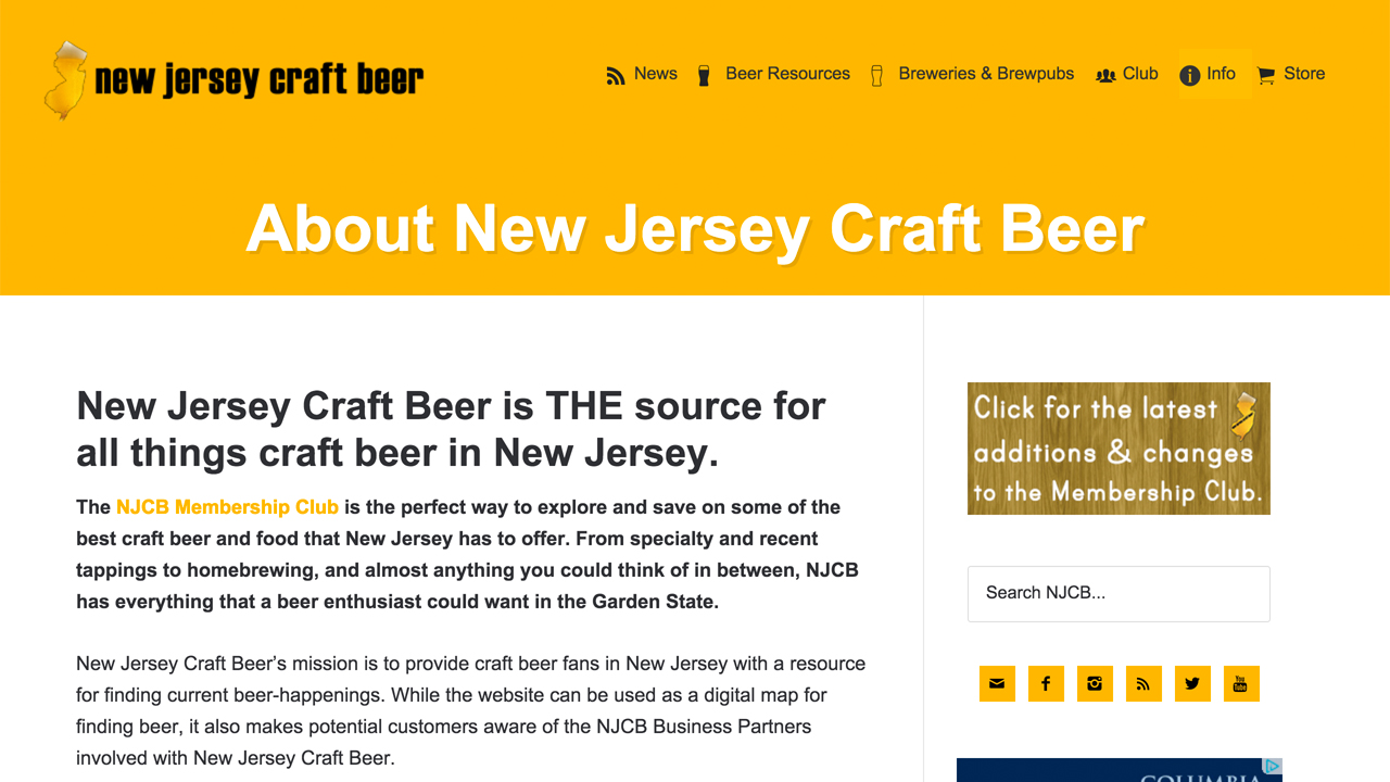 New Jersey Craft Beer  (NJCB) (state-wide) Guide to breweries, brewpubs and startups in NJ.