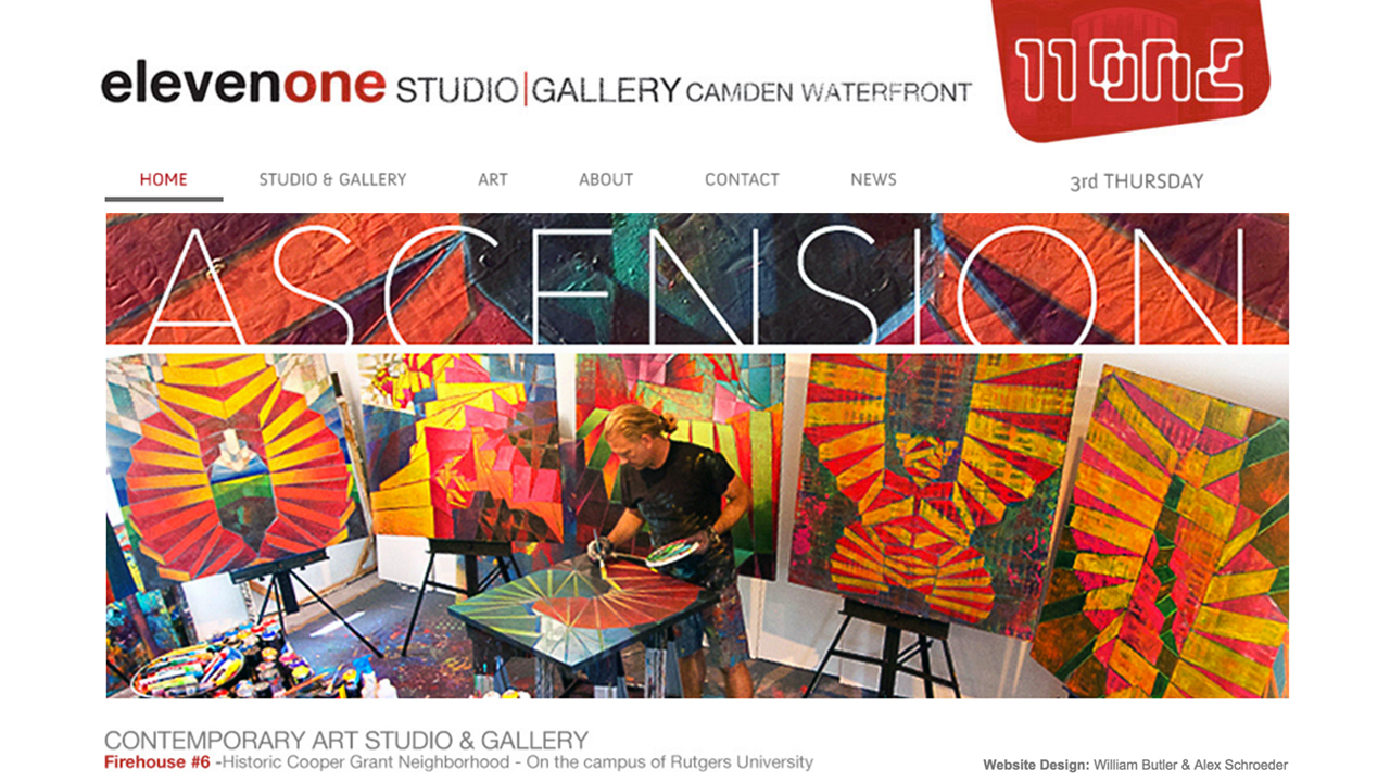 Gallery Eleven One   (Camden, Camden County)   Contemporary art gallery & studio. Paintings available for sale. Contact for pricing.