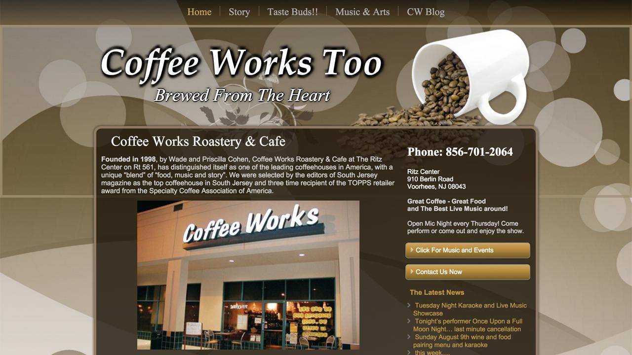 Coffee Works Too  (Voorhees, Camden County)