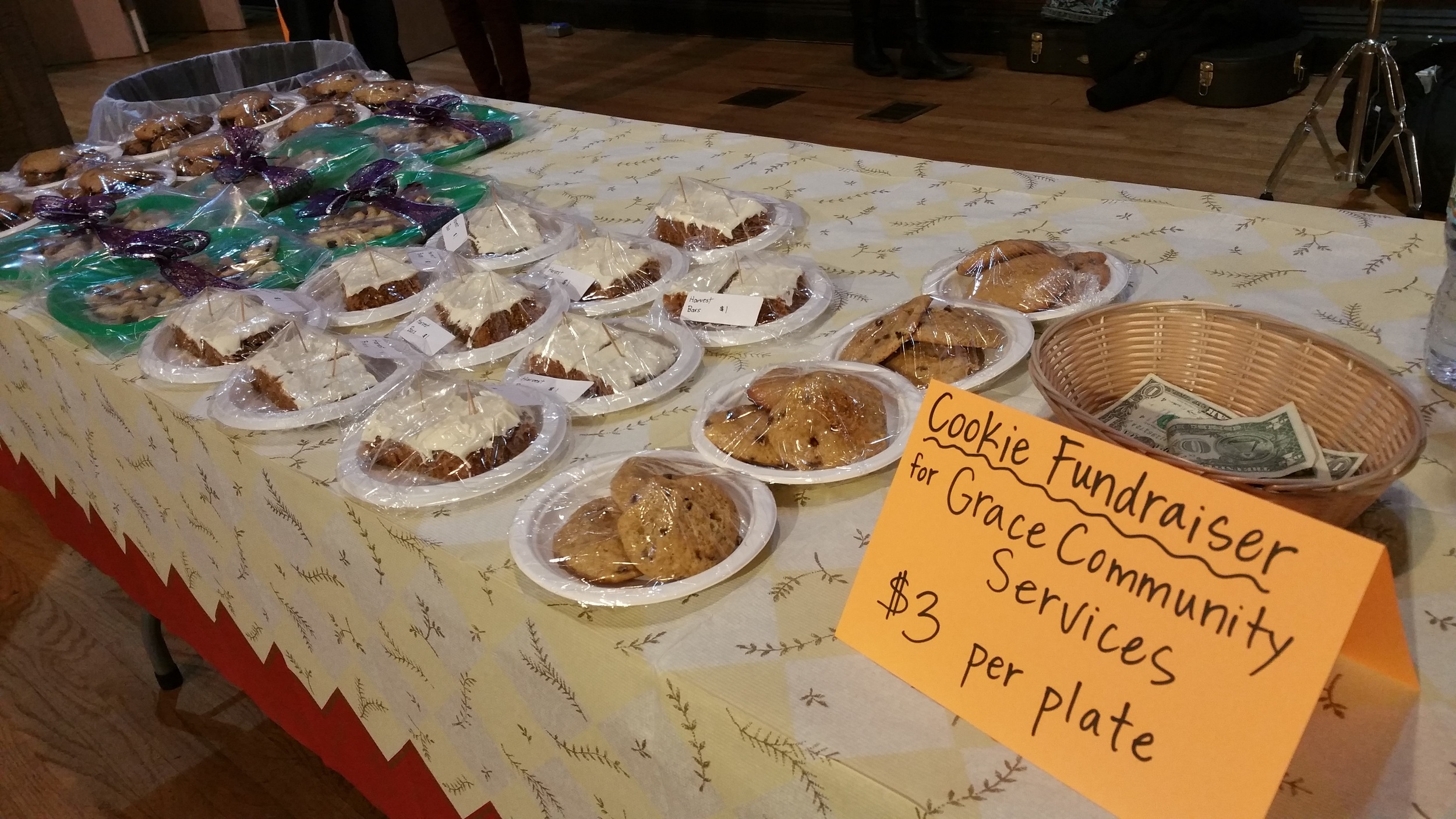 Home-baked treats at Grace Church Van Vorst.