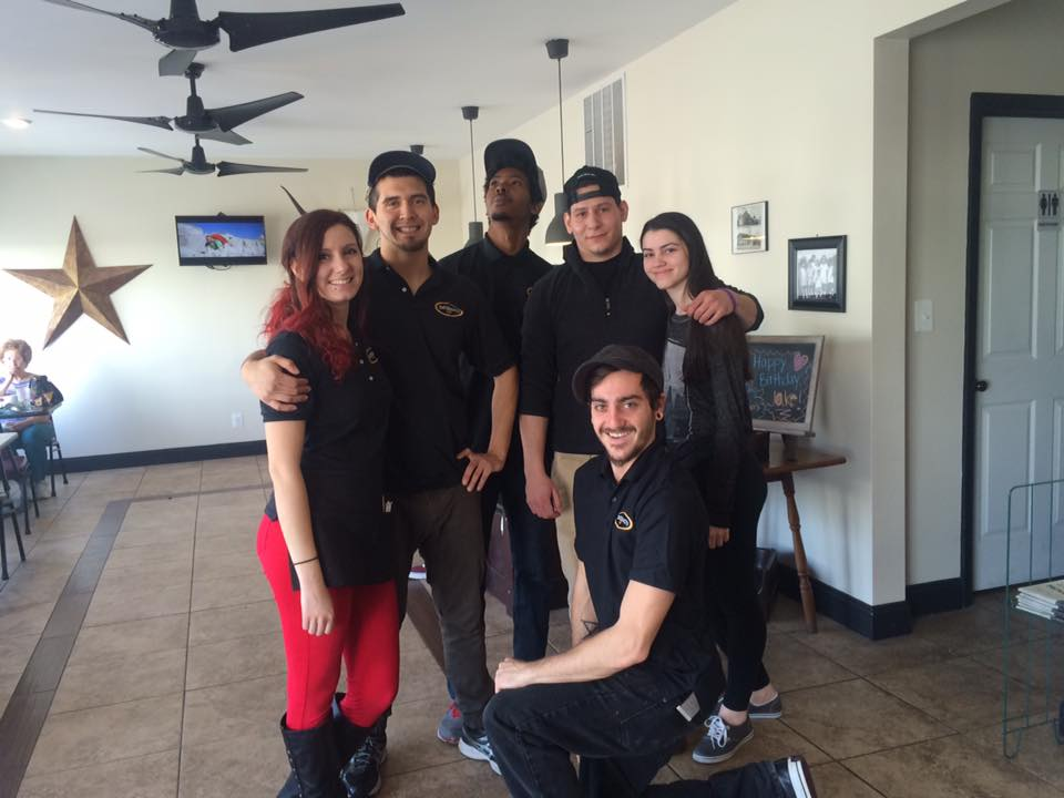 Group photo of the staff of DeStefano's Cafe.