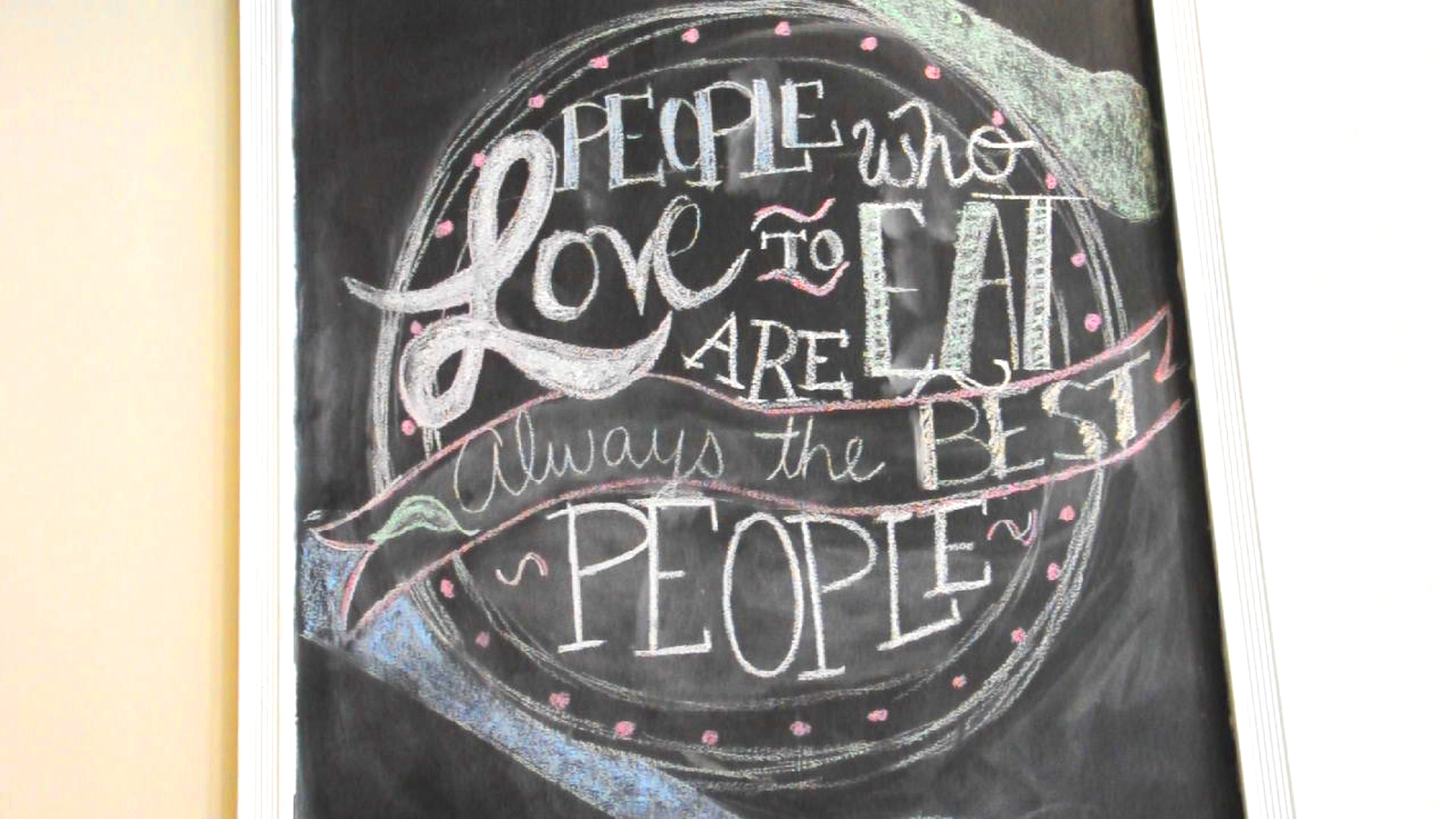 """""""People who love to eat are always the best people"""""""