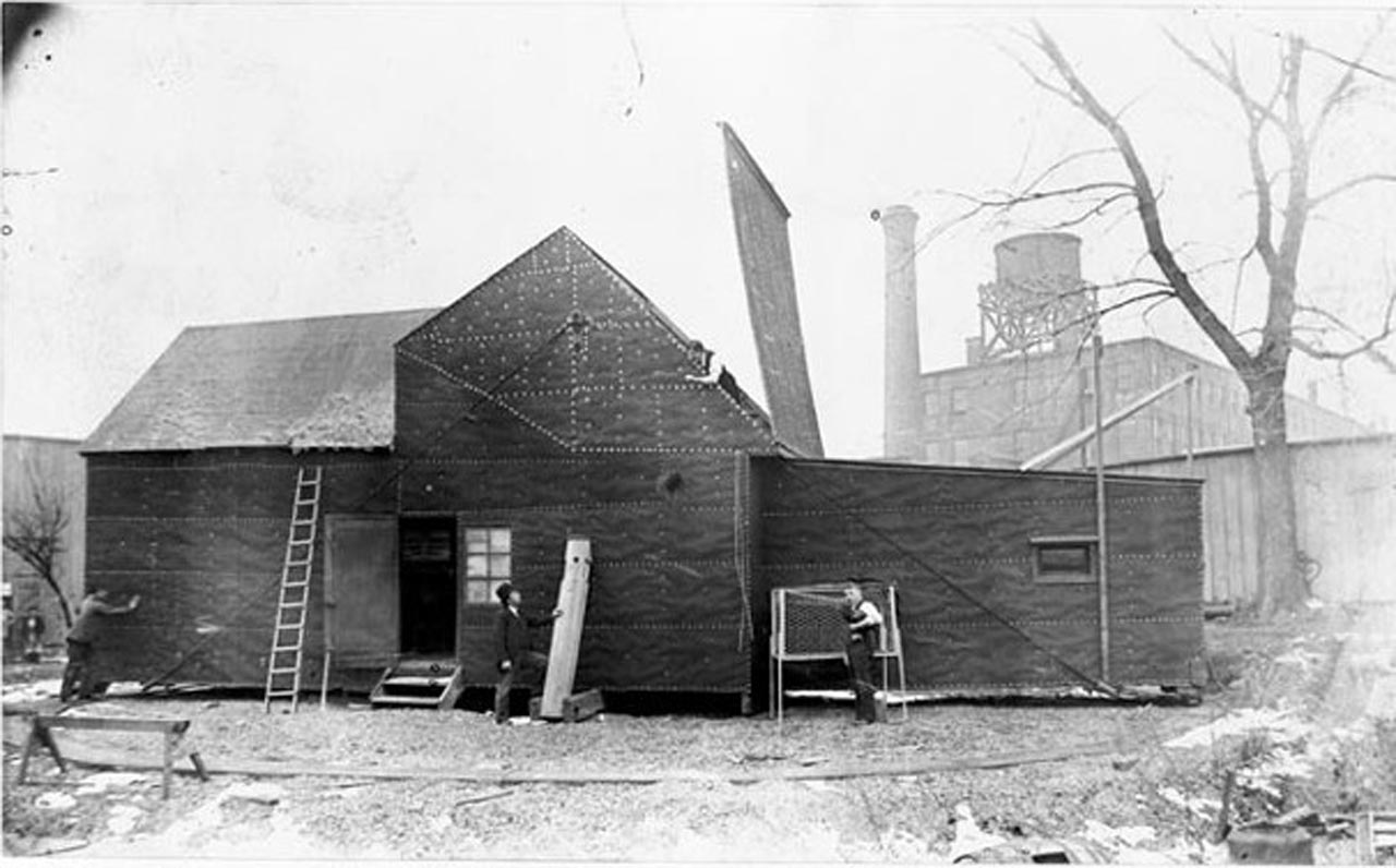 Edison's Black Maria Production Studio, circa 1894.