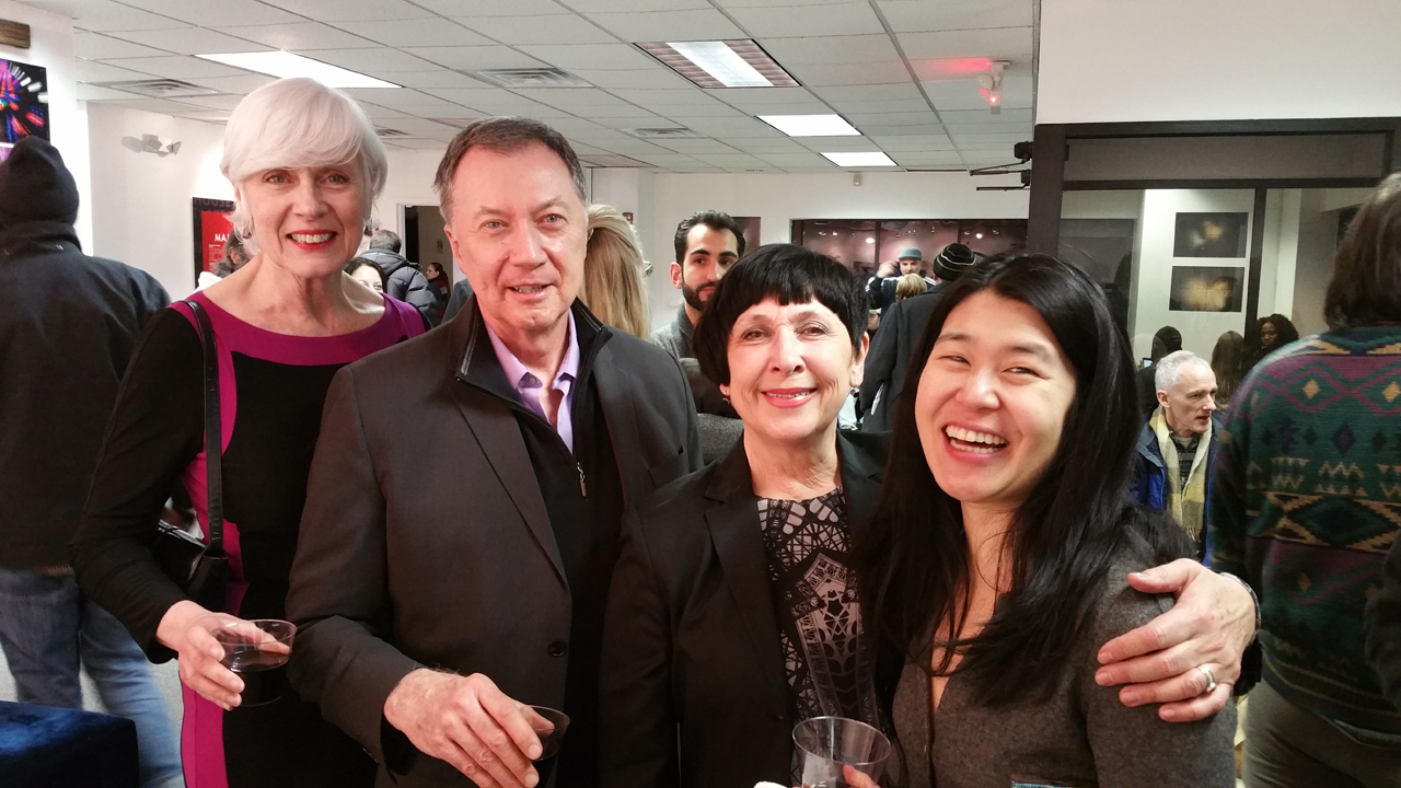 Left to right: Suzanne LaRosa, Bill LaRosa, Jane Steuerwald, Exec. Director, Theresa Loong, Filmmaker.  Photo by Lenore Holz.
