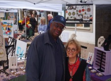 Gregory Burrus with the Artist  Susan Napack