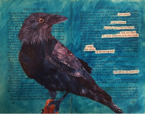 Image – Cat Delett artwork from the series  Birds and Words  juxtaposes songbirds with headlines and pulls quotes from vintage  LIFE  magazine articles to create amusing and thought-provoking pieces.