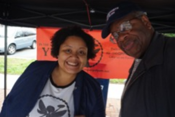 Gregory Burrus with Jessica Glass, owner of In the Company of Yum