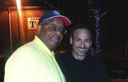 Gregory Burrus with Musician David Easton enjoying Downtown After Sundown Series, South Orange, NJ
