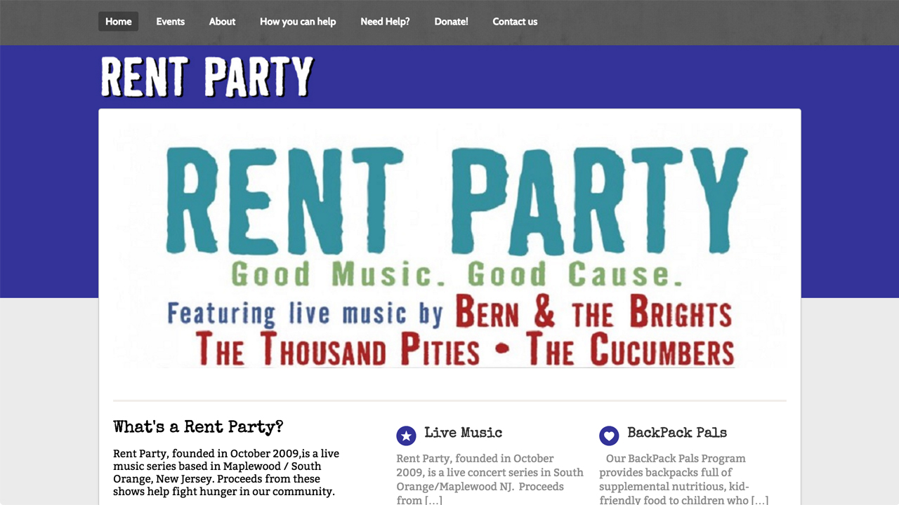 Featured Page: Rent Party