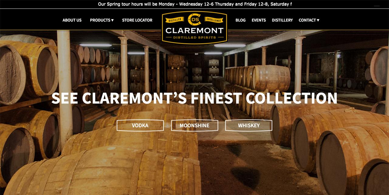 Featured Page: Claremont Distilled Spirits
